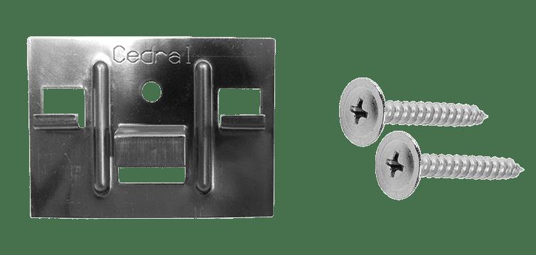 Кляммер + саморез 3,9х30мм для крепления доски Cedral Click 250 шт./кор. (по дереву)