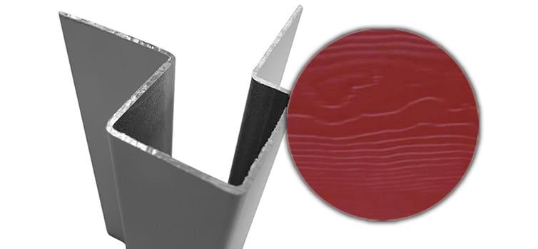 Внешний асимметричный угловой профиль алюм. CEDRAL С61 (Красная земля)