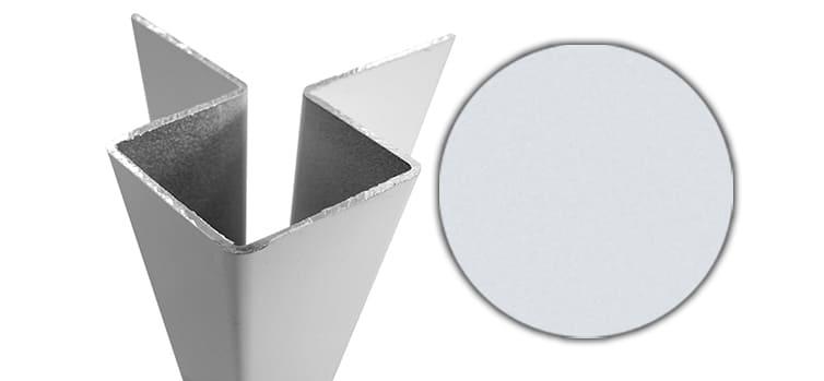 Внешний симметричный угловой профиль алюм. CEDRAL С01 (Белый минерал)