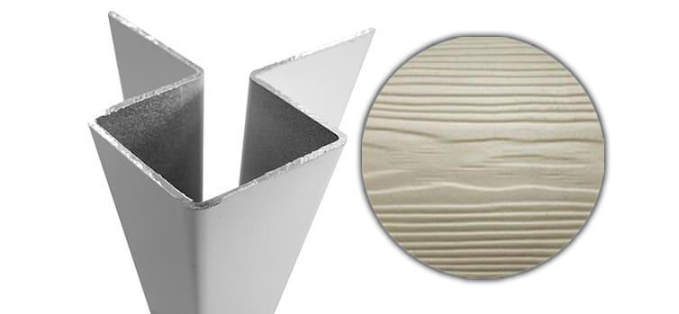 Внешний симметричный угловой профиль алюм. CEDRAL С03 (Белый песок)