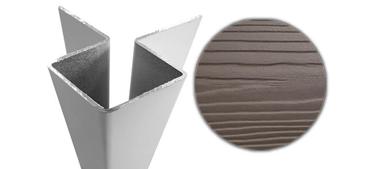 Внешний симметричный угловой профиль алюм. CEDRAL С55 (Кремовая глина)