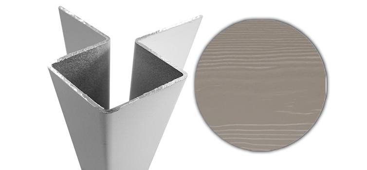 Внешний симметричный угловой профиль алюм. CEDRAL С56 (Прохладный минерал)