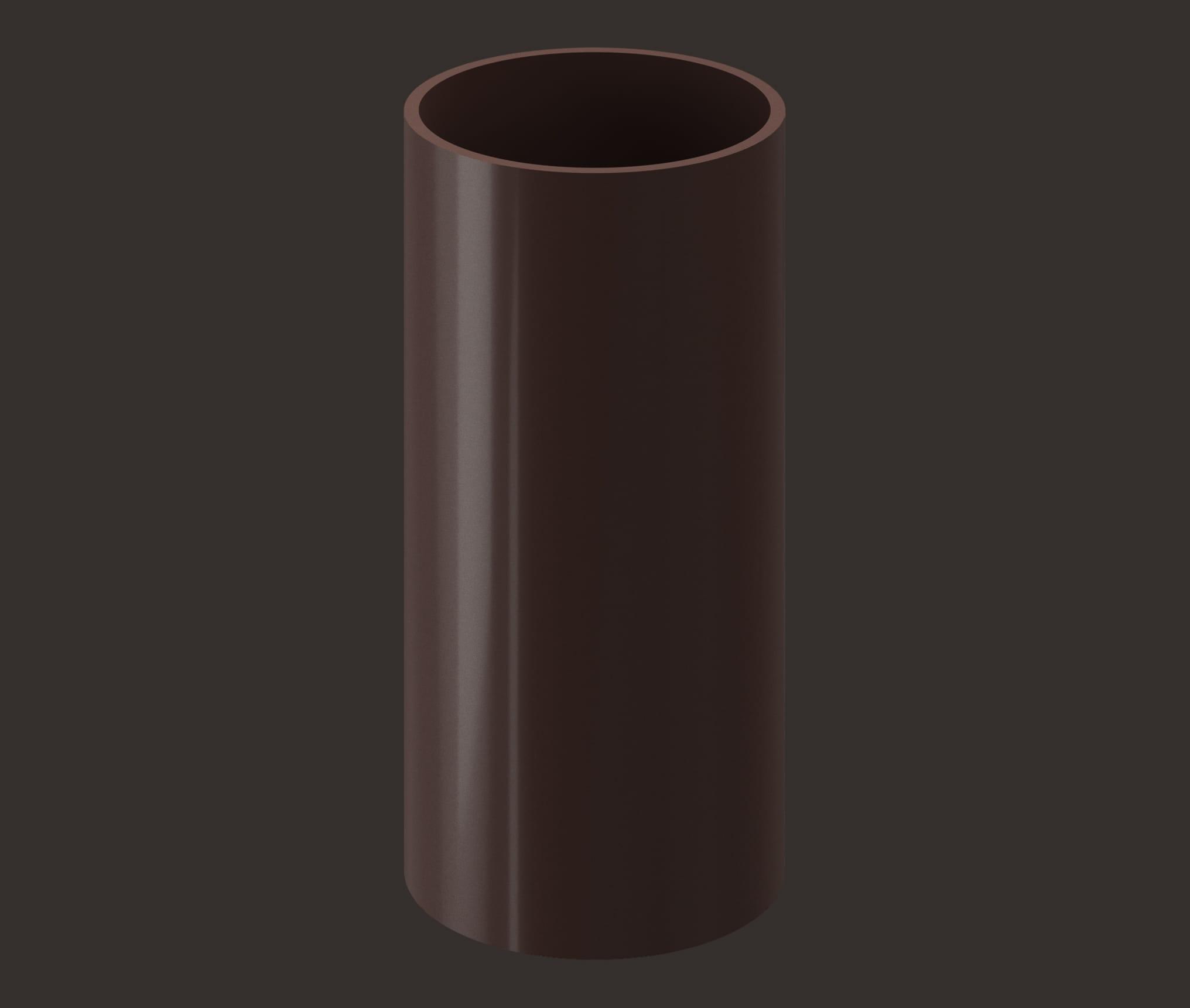 Döcke LUX Труба водосточная 1м (Шоколад)