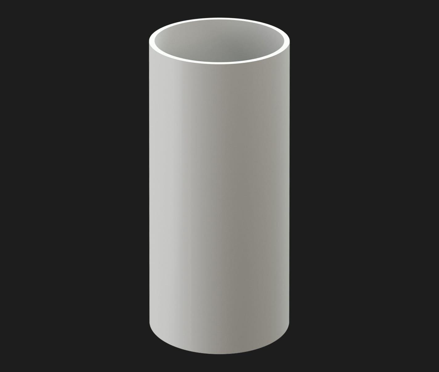 Döcke PREMIUM Труба водосточная 1м (Пломбир)