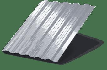 Профнастил C8 оцинковка 1200х2000мм, 0,4мм толщина