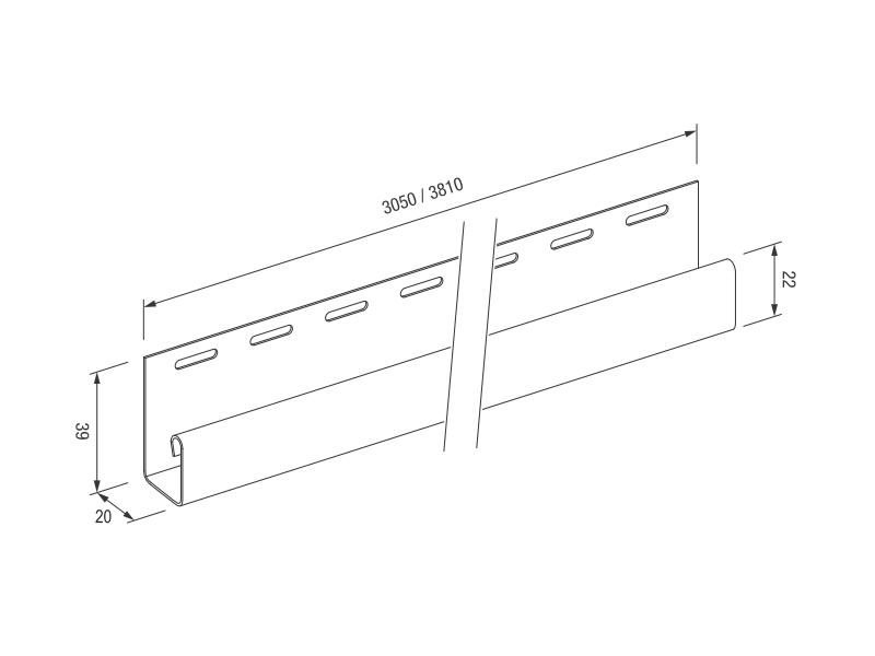 J-TRIM планка Бук 3,05м MAX-3