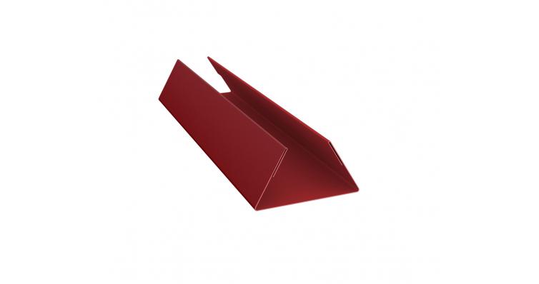 Планка стыковочная составная нижняя 0,45 PE-foil RAL 3011