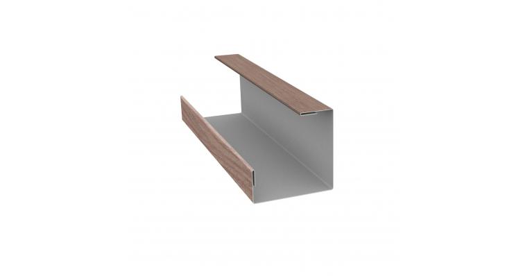 Планка угла внутреннего составная нижняя 0,5 Print-Double с пленкой White Dub