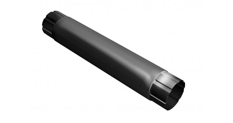 Труба круглая соединит.,90мм 1м RAL 9005