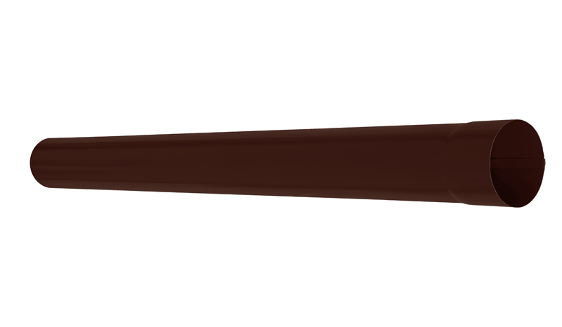 Труба водосточная АКВАСИСТЕМ d=90 L=1,0 m (RAL 8017)