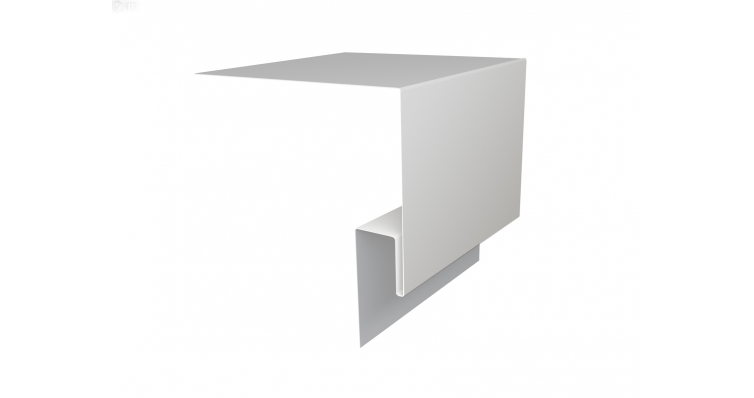 Планка околооконная сложная Блок-хаус GL 200х50 0,45 PE-foil RAL 9003