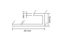 Начальный Г-образный профиль TERRADECK 25*10*3000мм