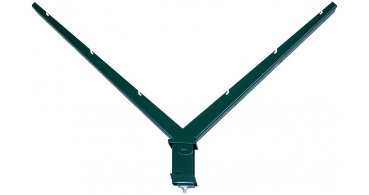 Наконечник V на столб 62х55 зеленый RAL 6005