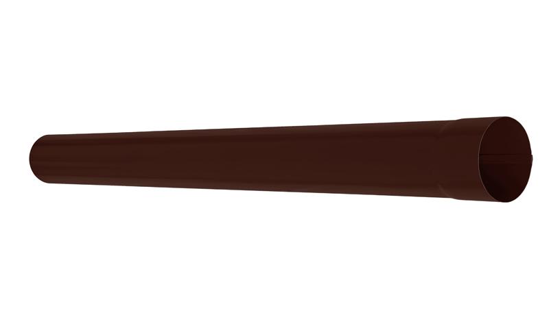 Труба водосточная АКВАСИСТЕМ d=100 L=1,0 m (RAL 8017)
