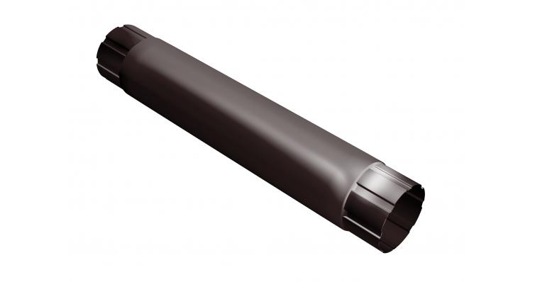 Труба круглая соединит.,90мм 1м RAL 8017