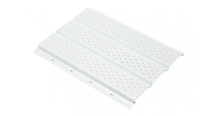 Софит металлический полная перфорация 0,5 Solano 10-foil White