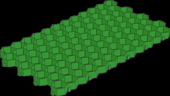 Решетка газонная пластиковая зелёная (арт.607)