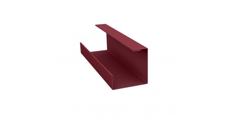 Планка угла внутреннего составная нижняя 0,5 Satin с пленкой RAL 3005