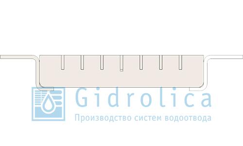 Решетка к лотку (ячеистая оцинк) (арт.500)