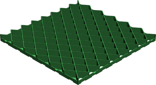 Решетка газонная РГ-60.60.4 пластиковая зеленая (арт.605)