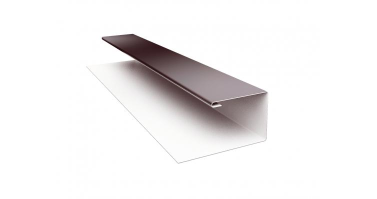 Планка П-образная 0,4 PE-foil RAL 8017