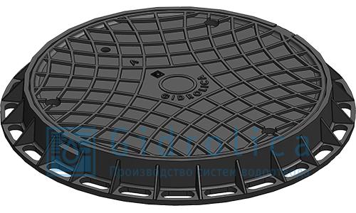 Люк канализационный пластиковый, черный (арт.218/ч)