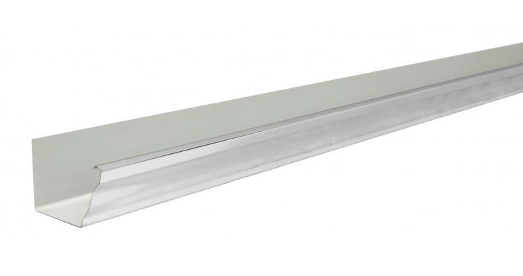 Желоб прямоугольный 127мм PE RAL 9003 3м