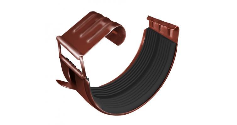 Соединитель желоба GL 125 мм RAL 8004