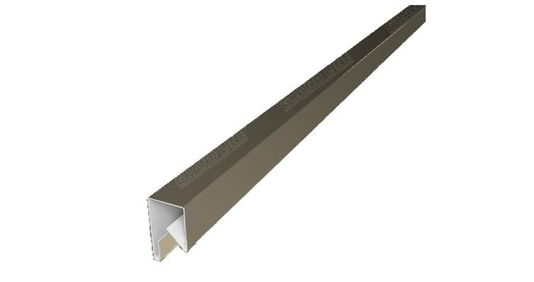 Планка П-образная заборная 17 0,5 Satin с пленкой RAL 1015