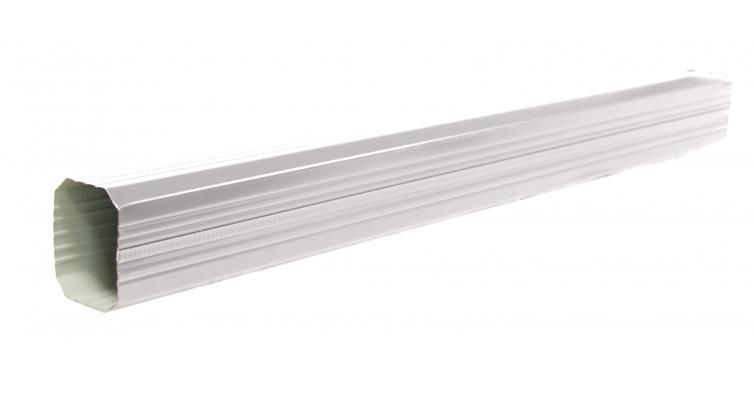 Труба прямоугольная 1м PE RAL 9003