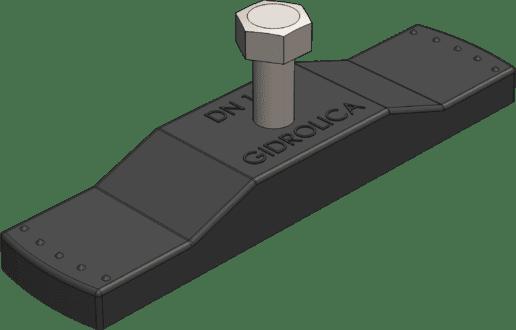Крепеж к лотку водоотводному пластик.(арт.108/1) для 508/1
